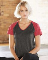 Anvil Women's Triblend Colorblocked Raglan T-Shirt 6770VL