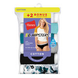 Hanes Cool Comfort™ Women's Cotton Sporty Hipster Panties 8-Pack (6+2 Free Bonus Pack) P841SC
