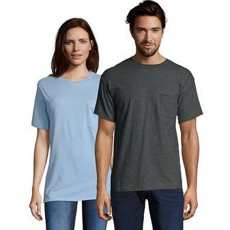 Hanes TAGLESS® Pocket T-Shirt 5590